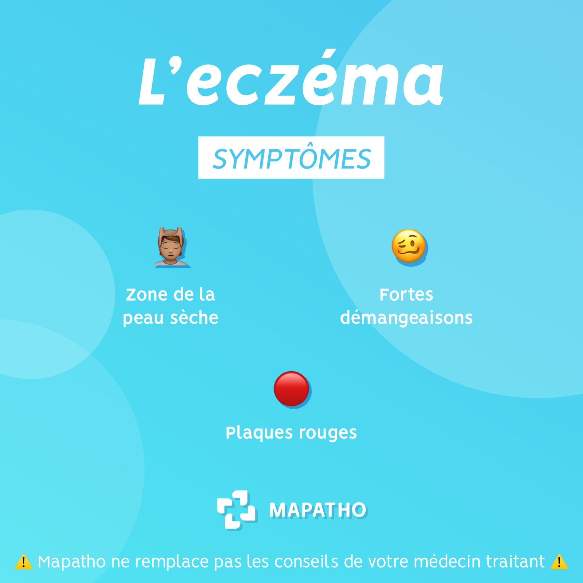 Les symptomes de l'eczema