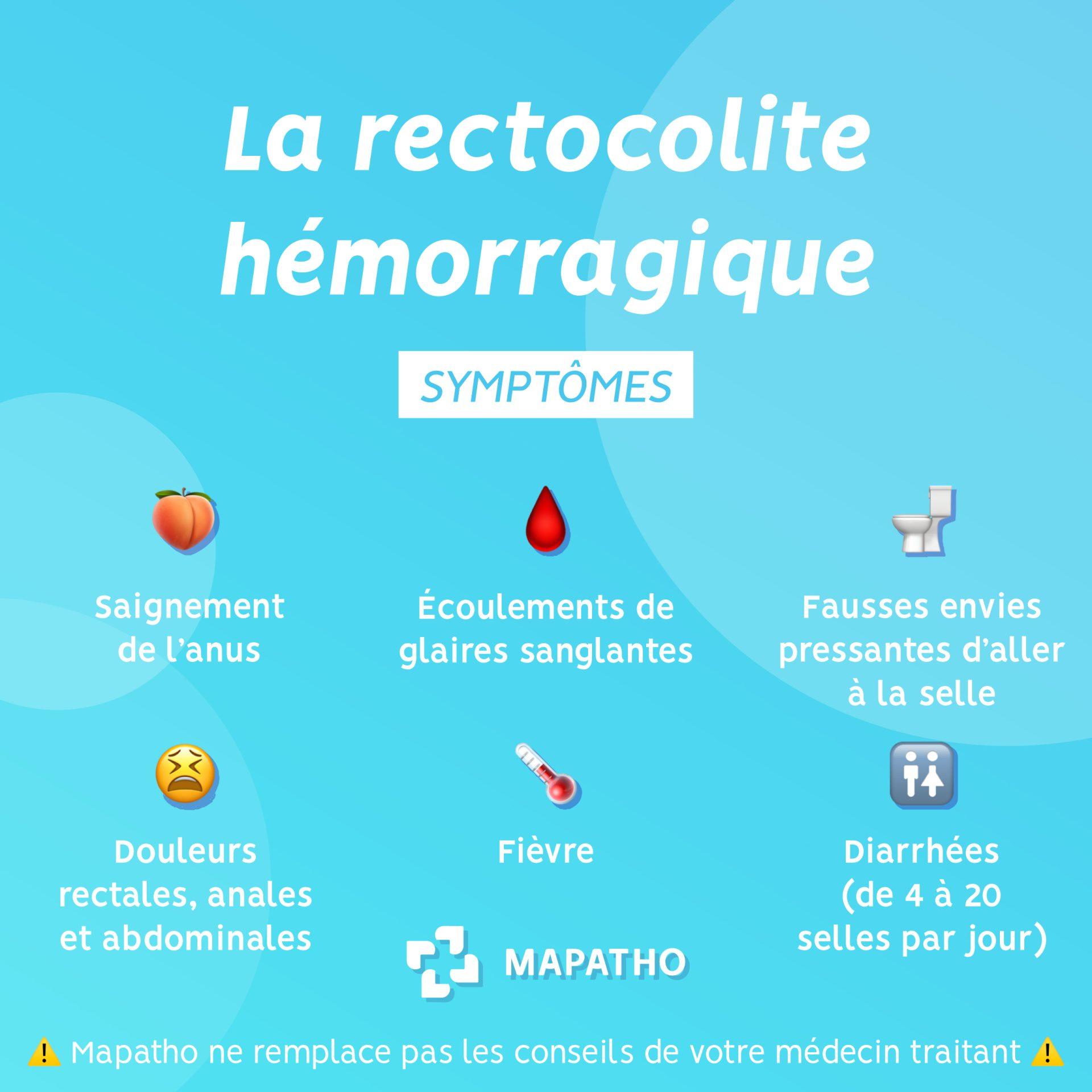 Les symptomes de la rectocolite hemorragique
